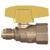 "Gas Ball Valve, Straight, 5/8"" OD x 3/4"" FIP"